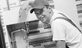 Hantverkare badrum